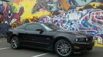 Black Mustang w/ Graffiti