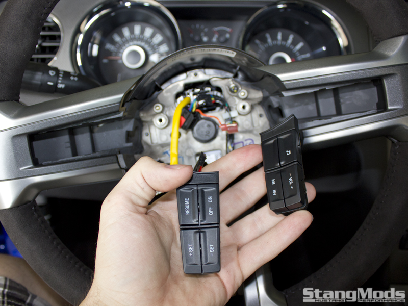 Swapping Steering Wheel Buttons On 2010-2013 Mustangs